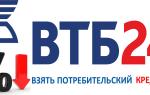 Как взять кредит в втб24 банке условия