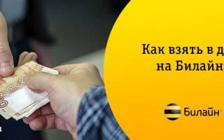 Как взять долг на билайне 50 рублей