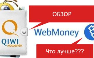 Что лучше qiwi или webmoney